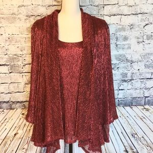 Avenue metallic shimmer blouse